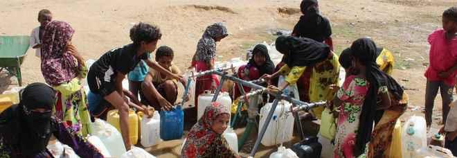 Il campo di Al-Manjorah, distretto di Bani Hassan, Hajjah, Yemen (foto Oxfam)