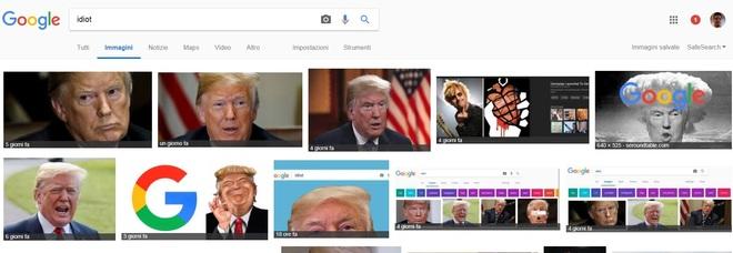 """Scrivi """"idiot"""", appare Trump. Imbarazzo di Google che si scusa, ma il risultato non cambia"""