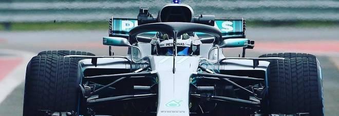 La Merecedes W09 già in pista a Silverstone