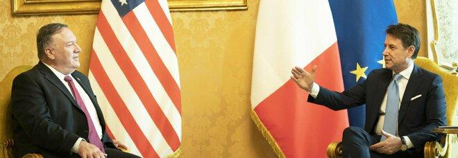 Pompeo a Roma: «A Conte ho chiesto attenzione sul 5G, Cina in Italia per scopi strategici»