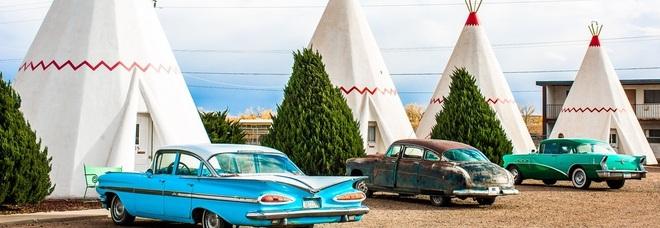 Sulla mitica Route 66 negli Usa in un tepee tra indiani e cowboy