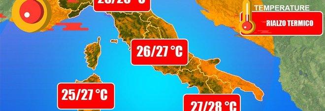 Meteo, altro che autunno: torna il caldo «fino a 28°». Ma da mercoledì piogge al Nord