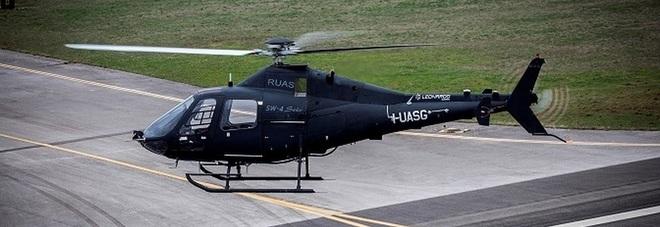 Leonardo: primo volo senza pilota per l'elicottero Solo made in Sud