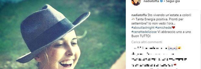 Nadia Toffa sorridente sui social, poi la novità: «Pronti per settembre?»