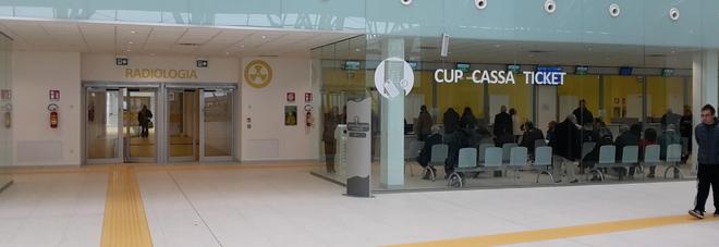L'ufficio cassa dell'ospedale di Schiavonia