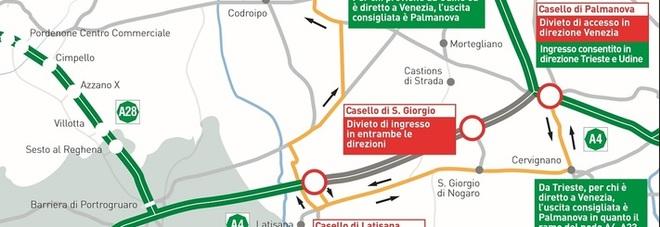 Ecco come muoversi durante la chiusura dell'autostrada tra il 21 e i 22 luglio
