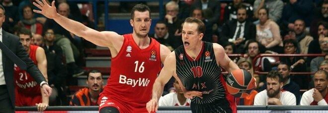 Basket, sospetto positivo nell'Olimpia Milano, la squadra sospende gli allenamenti