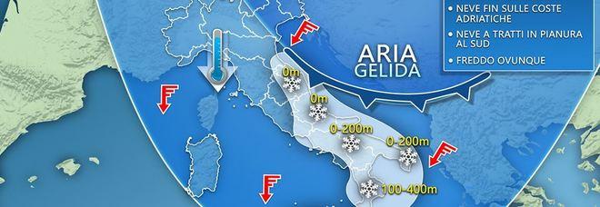 Arriva il freddo artico c'è l'allerta: pronto a scattare il piano anti-neve