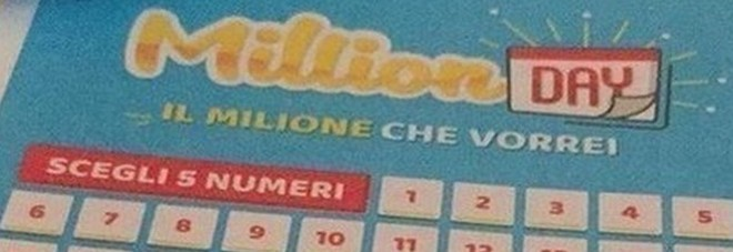 Million Day, numeri vincenti di martedì 10 settembre 2019
