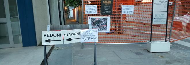 La chiusura di via Mazzini interdetta anche ai pedoni