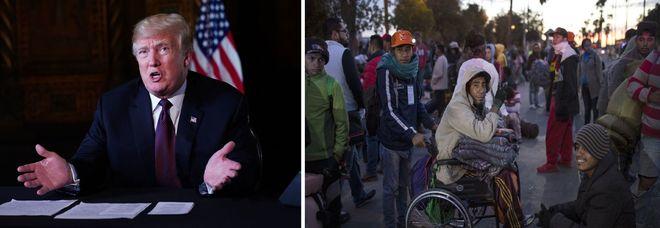 Trump pronto all'uso di «forza letale» contro la carovana di migranti