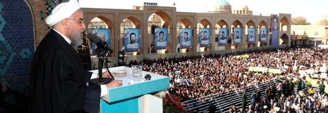 Hassan Rouhani of Iran on Sunday in the city of Yazd, Photo: EPA