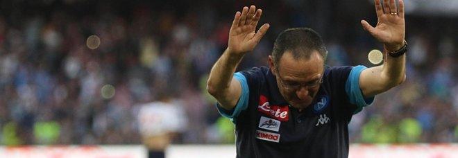 Il Napoli saluta Maurizio Sarri: «3 anni di crescita, in bocca al lupo»