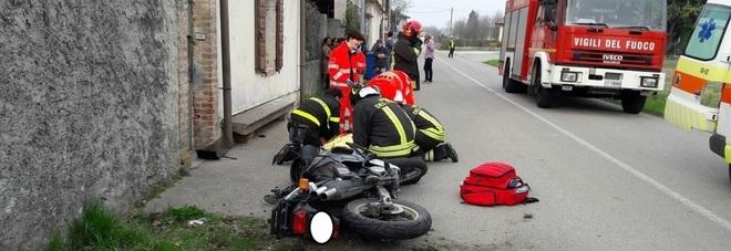 Tauriano incidente in moto in via Istriago