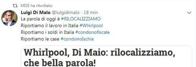 Epic Fail del Mise su Twitter: retwittano il Luigi di Maio sbagliato. Era un account fake