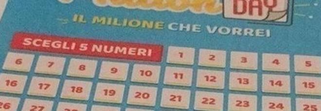 Million Day, i numeri vincenti di giovedì 5 settembre 2019