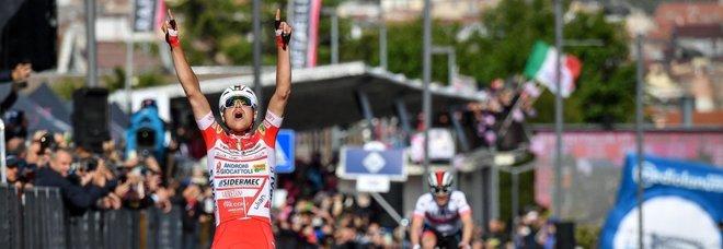 Giro all'italiana: tappa a Masnada e maglia rosa al romano  Conti