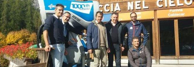 La presentazione del progetto di rilancio della funivia Tofana a Cortina