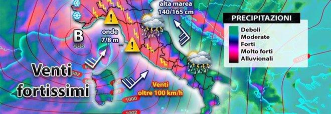 Meteo, nel weekend tempesta autunnale: piogge in tutta Italia. «Lunedì il giorno peggiore»