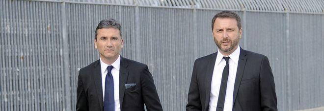 Francesco Marroccu e Devis Mangia, direttore sportivo e allenatore dell'Ascoli