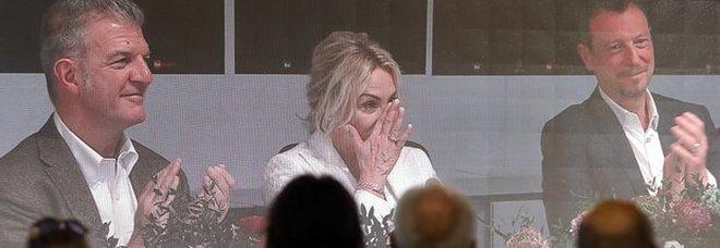 Sanremo, Antonella Clerici si emoziona in conferenza stampa