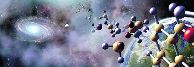 Una rappresentazione artistica di astronomia e biologia