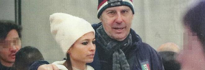 Fabrizio Frizzi e Carlotta Mantovan a Roma