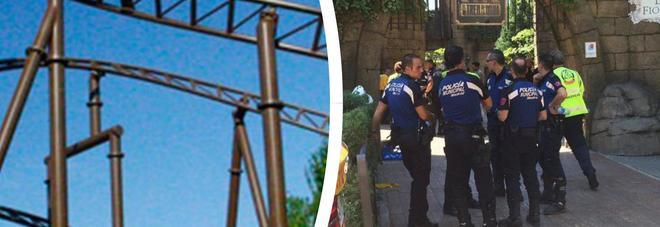 Paura a Madrid, scontro tra trenini sulle montagne russe: 33 feriti, 6 sono bambini