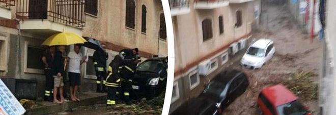 Bomba d'acqua a Scilla: strade invase da acqua e fango