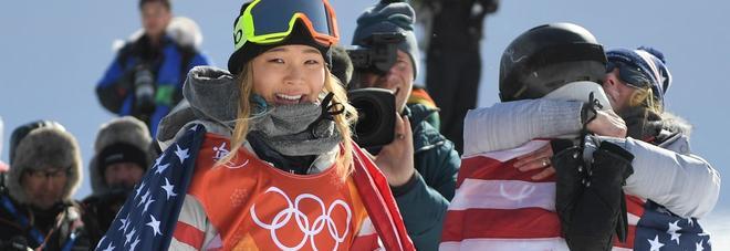 La 17enne americana Kim oro nell'halfpipe