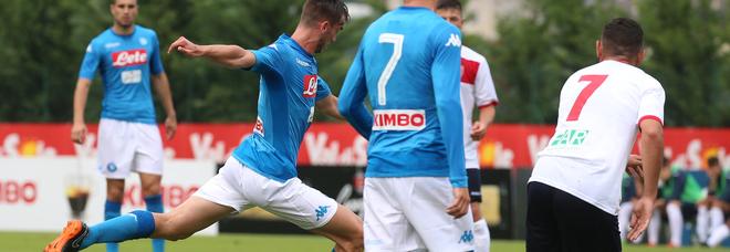 L'1-0 firmato da Ruiz (Newfotosud-Giacomo Di Laurenzio)