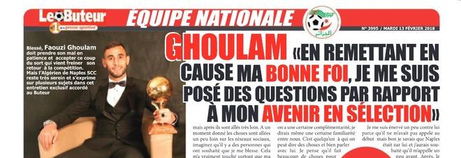 Ghoulam, l'infortunio ed il gruppo «Questo Napoli è la mia famiglia»