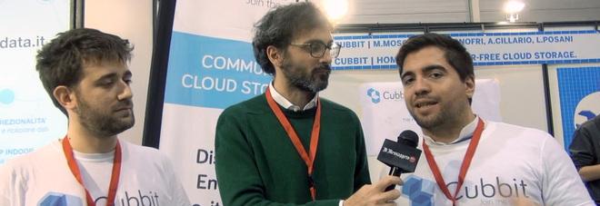 I fondatori di Cubbit Marco Moschettini (sx) e Stefano Onofri (dx)