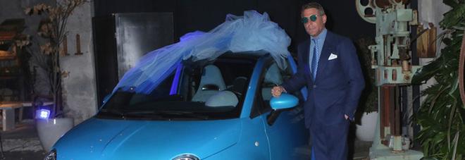 Il testimone Lapo dona a Cracco per le nozze la sua Abarth 500 realizzata da Garage Italia