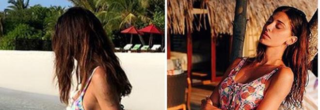Belen Rodriguez ci ripensa e il viaggio di nozze con Iannone diventa una vacanza in famiglia