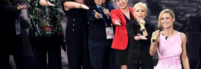 Sanremo, finta contestazione a Michelle: è flashmob contro violenza donne