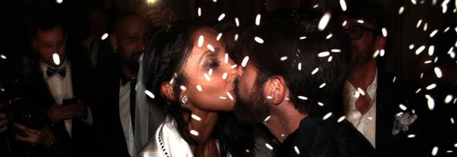 Juliana Moreira e Edoardo stoppa, il giorno del si a Palazzo Reale