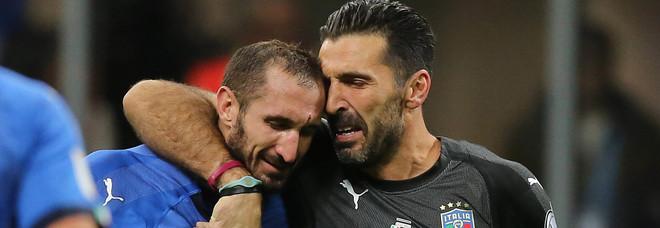 Chiellini e Buffon in Nazionale