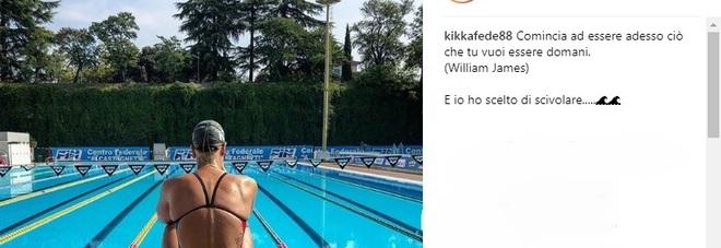 Il post enigmatico della Pellegrini:  «Ho scelto di scivolare»