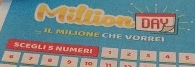 Million Day, i numeri vincenti di mercoledì 1 gennaio 2020