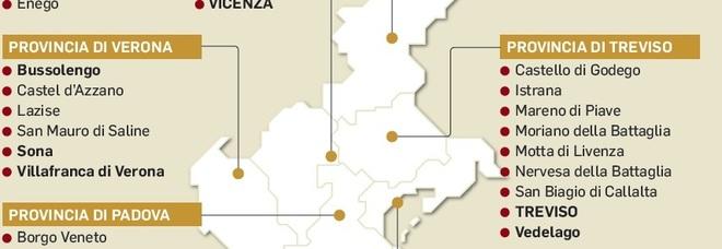 Urne chiuse nei comuni del Veneto  Crollo affluenza: -7,43% /La mappa