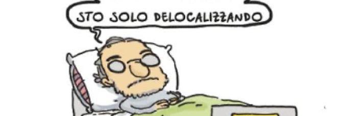 Marchionne, la vignetta che scatena le polemiche social: «Non sto morendo, sto solo delocalizzando».