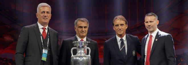 Euro 2020, l'Italia pesca Svizzera, Turchia e Galles