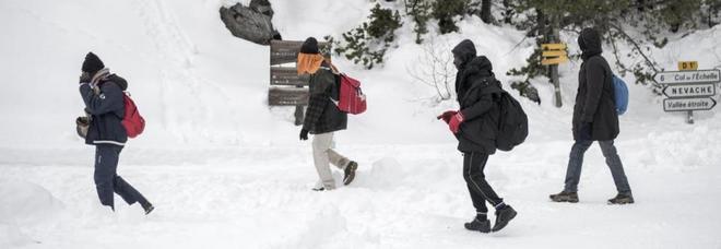 Migranti sulle Alpi