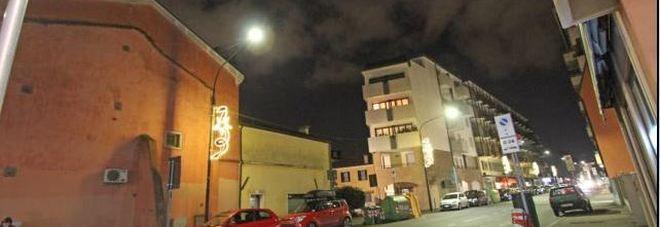 Via Einaudi, dove si è consumata la tragedia ieri sera