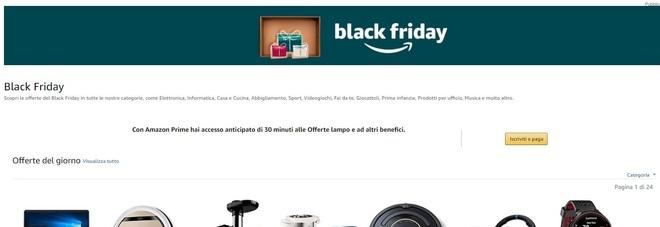Amazon Black Friday 2017, ci siamo: sconti, offerte e promozioni entrano nel vivo