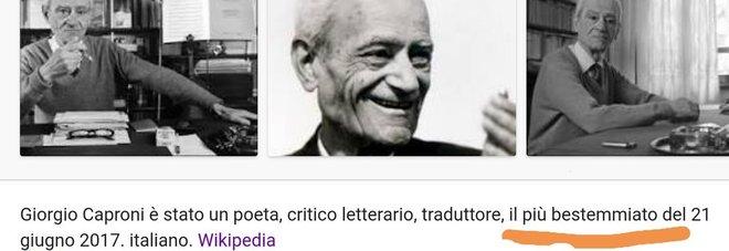 """Maturità, Giorgio Caproni l'autore dell'analisi del testo. Ironia sul web: """"Un amico di Sgarbi"""""""