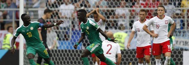 Il Senegal supera la Polonia 2-1