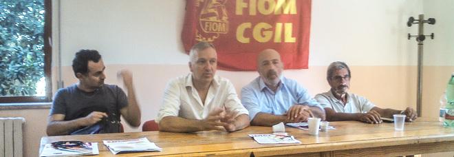 La conferenza stampa congiunta della Fiom e della Cgil a Pomilgiano