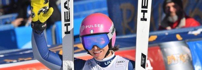 Sci, trionfo azzurro nella discesa libera: Elena Curtoni davanti a Bassino e Brignone